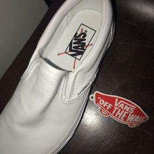 All white Vans size 8